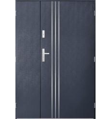 Porte d'entrée double GAMO 80x40 cm anthracite