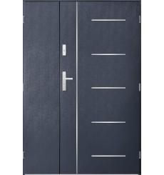 Porte d'entrée double CORTAZ 90x40 cm anthracite