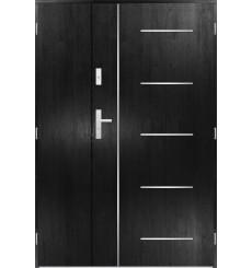 Porte d'entrée double CORTAZ 80x40 cm noir