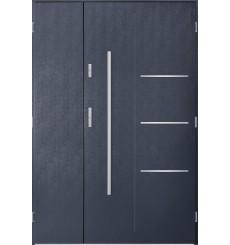 Porte d'entrée double PIRAS 80x40 cm anthracite