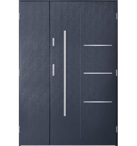 Porte d'entrée double PIRAS 90x40 cm anthracite