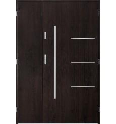 Porte d'entrée double PIRAS 80x40 cm wengé
