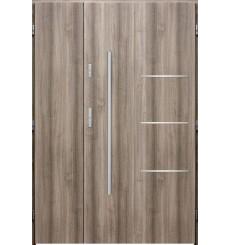 Porte d'entrée double PIRAS 90x40 cm chêne blanchi