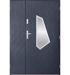 Porte d'entrée double DIZAR 90x40 cm anthracite