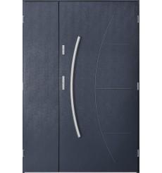 Porte d'entrée double LYNX 90x40 cm anthracite