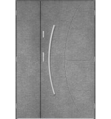 Porte d'entrée double LYNX 90x40 cm béton