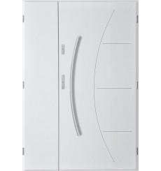 Porte d'entrée double LYNX 90x40 cm blanc