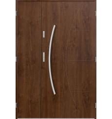 Porte d'entrée double LYNX 90x40 cm noyer