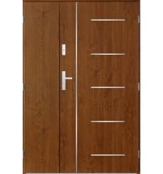 Porte d'entrée double CORTAZ 90x40 cm chêne doré