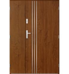 Porte d'entrée double GAMO 90x40 cm chêne doré
