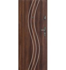 Porte d'entrée FADIA 90 cm H1 CPL noyer