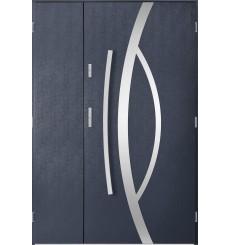 Porte d'entrée double CASTOR 90x40 cm anthracite