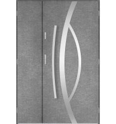 Porte d'entrée double CASTOR 90x40 cm béton