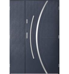 Porte d'entrée double FELIX 90x40 cm anthracite
