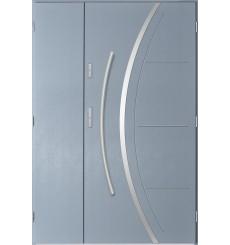Porte d'entrée double FELIX 90x40 cm anthracite clair