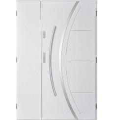 Porte d'entrée double FELIX 80x40 cm blanc