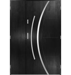 Porte d'entrée double FELIX 90x40 cm noir