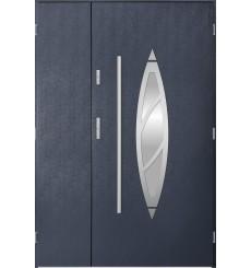 Porte d'entrée double BELIAR 80x40 cm anthracite