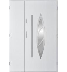 Porte d'entrée double BELIAR 80x40 cm blanc