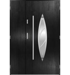 Porte d'entrée double BELIAR 90x40 cm noir