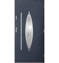 Porte d'entrée simple BELIAR 90 cm anthracite