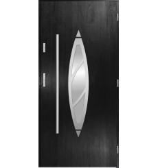 Porte d'entrée simple BELIAR 90 cm noir