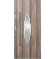 Porte d'entrée BELIAR 80 cm chêne blanchi