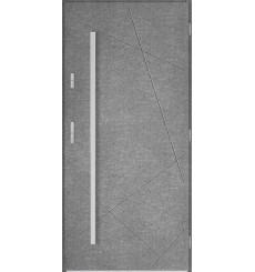 Porte d'entrée simple DIAGO 90 cm béton