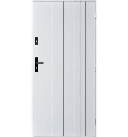 Porte d'entrée simple GUTA 80 cm blanc