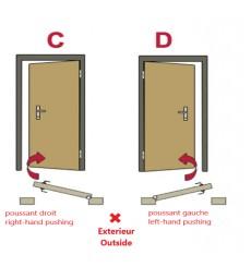 Porte d'entrée KALA 90 cm H1 en acier inoxydable blanc