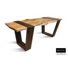 Table à manger en chêne massif BRUGGE 2, 210 cm