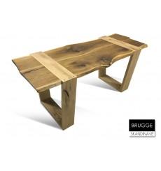 Table à manger en chêne massif BRUGGE 175 cm