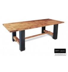 Table à manger en chêne massif BRITT-Jeans 220 cm
