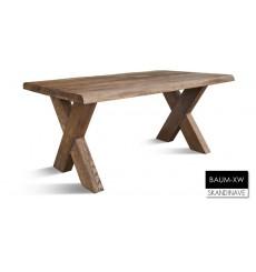 Table à manger en chêne massif BAUM-XW 2, 160 cm