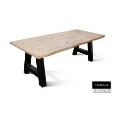 Table à manger en chêne massif BAUM-LA 180 cm