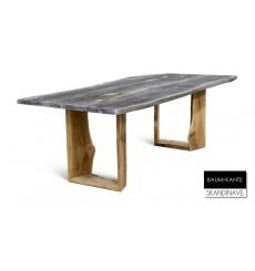 Table à manger en chêne massif Baum-KANTE 4, 200 cm