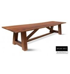 Table à manger en chêne massif BAUM-1812 - 2, 340 cm