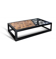 Table basse  en chêne massif A-TEX NATUR COFFEE 5, 100 cm