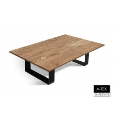 Table basse  en chêne massif A-TEX NATUR COFFEE 3, 180 cm
