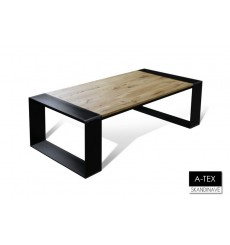 Table basse  en chêne massif A-TEX CAFÉ NATUREL 140 cm