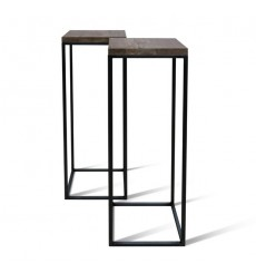 Table d'appoint en chêne massif A-TEX DARK RACK