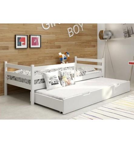 Lit gigogne NINA blanc 185x80 cm