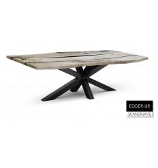 Table à manger en chêne massif EDDER-UR - 2, 240 cm