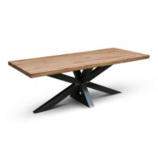 Table à manger en chêne massif EDDER-XN 200 cm