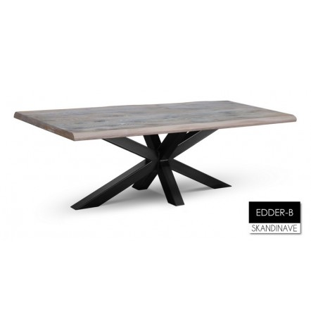 Table à manger en chêne massif EDDER-B 220 cm