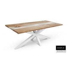 Table à manger en chêne massif EDDER-2X-2, 200 cm