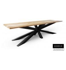 Table à manger en chêne massif EDDER-2X, 300 cm