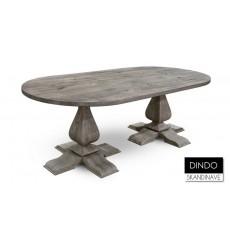 Table à manger en chêne massif DINDO 220 cm