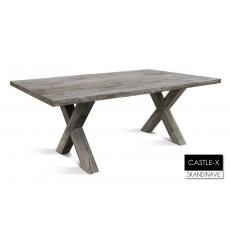 Table à manger en chêne massif CASTLE-X 2, 180 cm