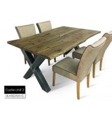 Table à manger en chêne massif Castle LINE 2 200 cm